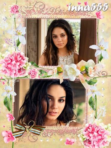 Женская рамка для двух фотографий - Так прекрасен мир цветов!