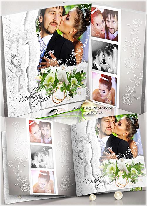 Роскошная свадебная фотокнига-Счастливые моменты