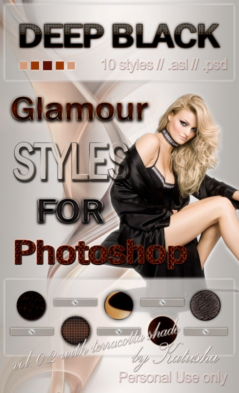 Гламурные стили для Photoshop - Deep Black