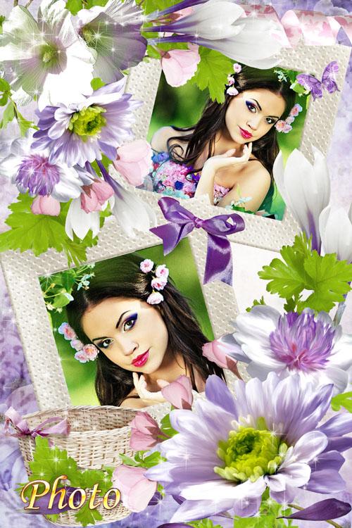 Цветочная рамка для фото - Целый букет ароматов и звуков