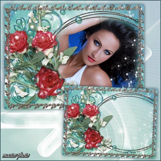 Цветочная рамка для фотошопа - Жгучий взгляд