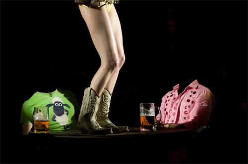 Шаблон для фотошопа - танцы на столе