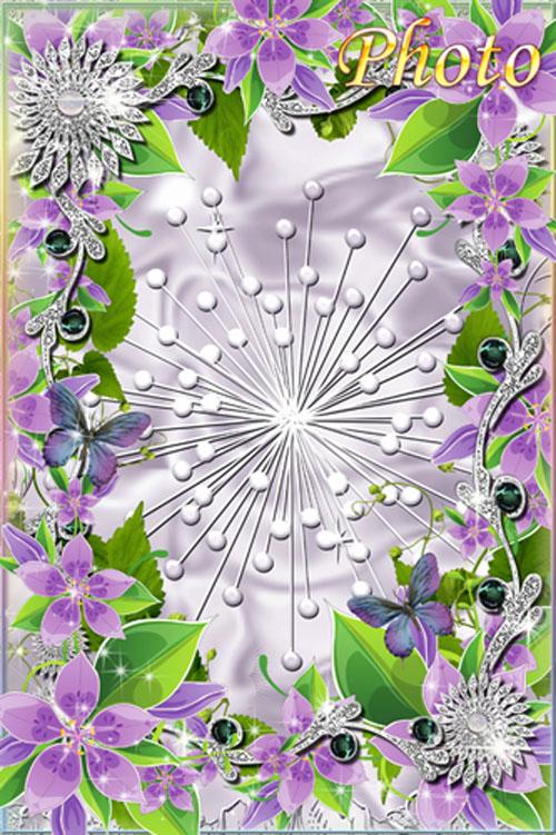 Цветочная рамка для фото - Легкая нежность, изыск аромата