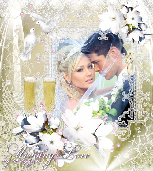 Свадебная рамка - Моменты истинного счастья