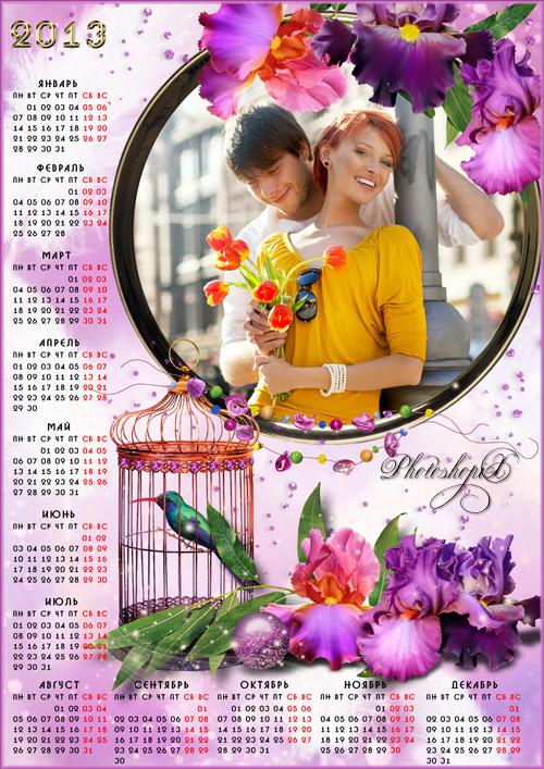 Гламурный календарь на 2013 год – Хрупкий цветок орхидеи