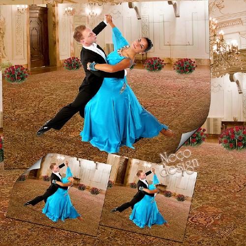 Женский шаблон - В танце красивом кружится пара