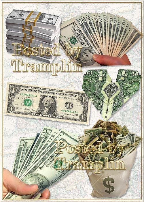 Клипарт в  Png  – Доллары, деньги - Dollar heart