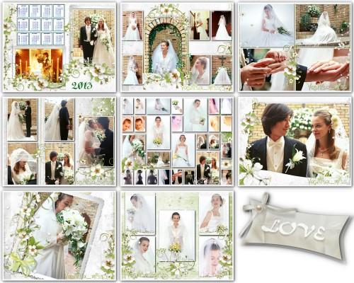 Набор свадебных рамочек - Нежность 2