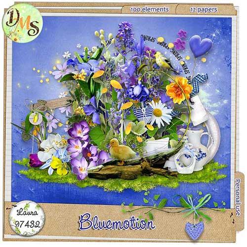 Цветочный скрап-набор - Голубая мечта