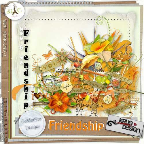 Детский скрап-набор - Наша дружба