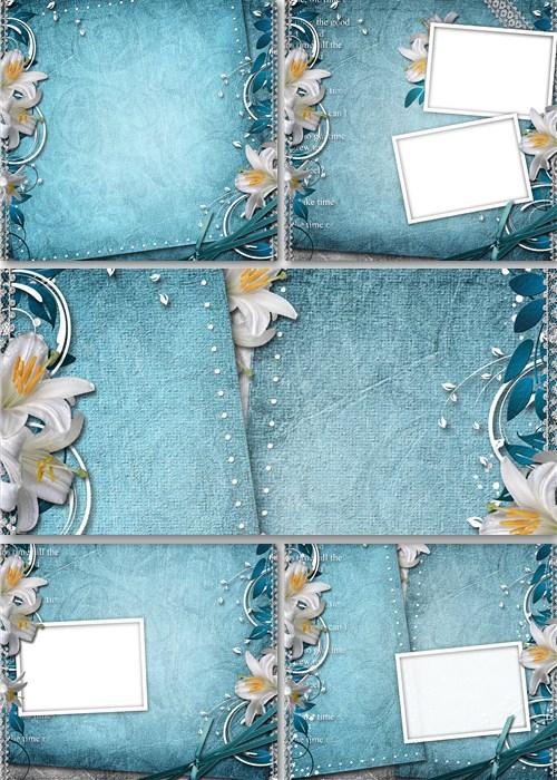 Винтажные фоны с цветами для фоторамок