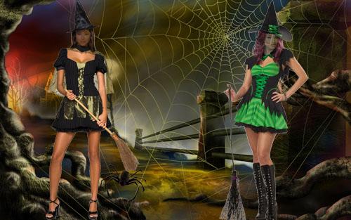Женские шаблоны - праздник хэллоуин