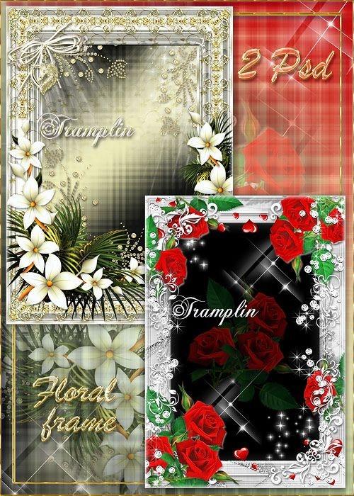 2 цветочные рамки Розы и Лилии – Жгучая и нежная