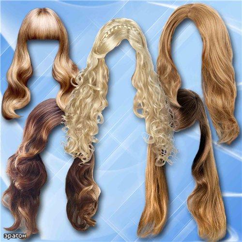 Клипарт для фотошопа – Прически с длинными волосами