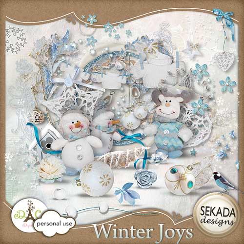 Новогодний скрап-набор - Зимняя радость