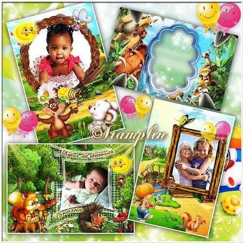 Детские рамки  для фото  – Беспечные занятия, уютные объятия