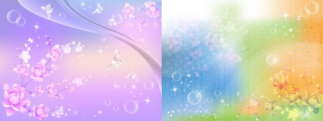 Два Прекрасных Фона - Весенние цветы_PSD(многослойные)