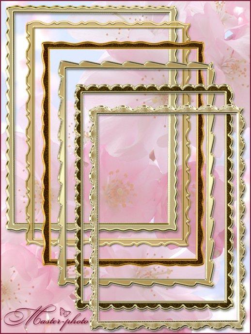Золотые рамки вырезы для вашего творчества в фотошопе