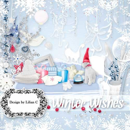 Новогодний скрап набор - Пожелание зимы