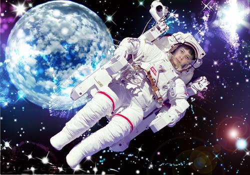 Мужской шаблон для фотошопа - В глубинах галактики