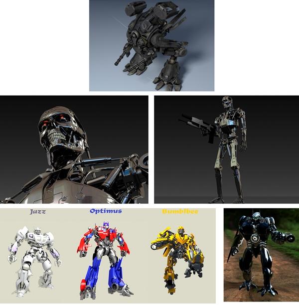 3d Модели Крутых Роботов-Бойцов + текстуры