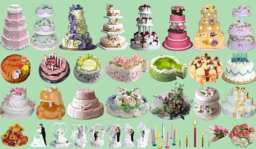 Клипарт - Праздничные тортики