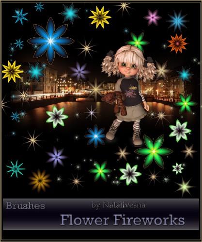 Кисти для  Photoshop – Цветочный фейерверк