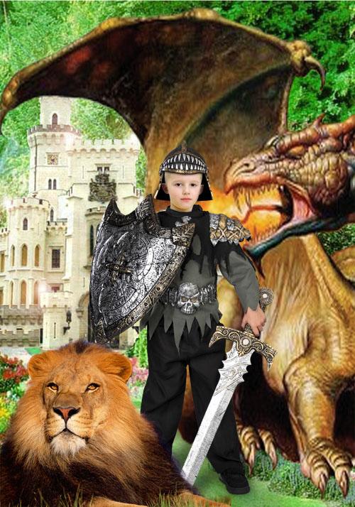 Детский шаблон - Охрана замка