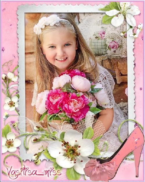 Детская рамочка для фотошопа - Туфелька для золушки