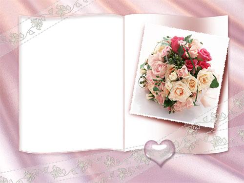 Свадебная фоторамка - свадебный букет!