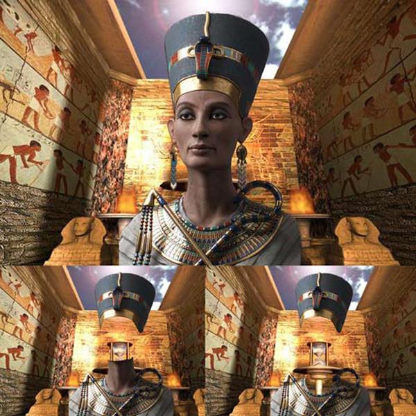 Шаблон  женский – Нефертити