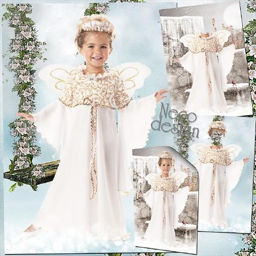 Детский шаблон для девочки - Танцующий ангел