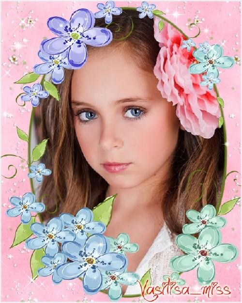 Красивая рамочка для фотошопа с красивым цветочным оформлением