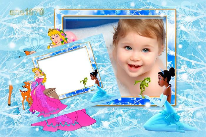 Детская рамка для фотошопа - Принцессы