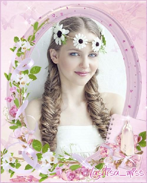 Красивая свадебная рамочка для фотошопа - Нежный запах роз