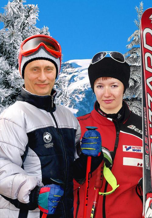 Фото со знаменитостями - С Путиным на лыжах