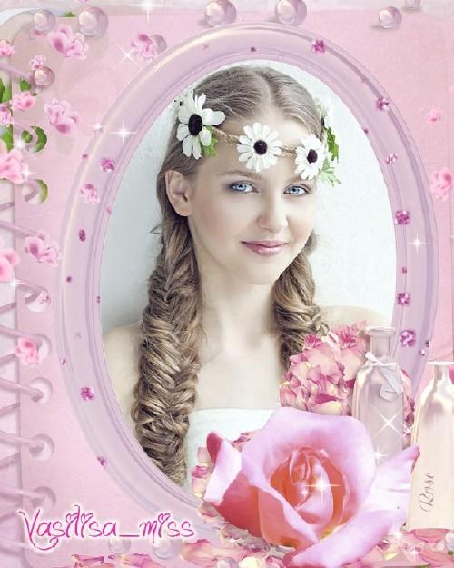 Красивая рамочка для фотошопа - Я люблю розы