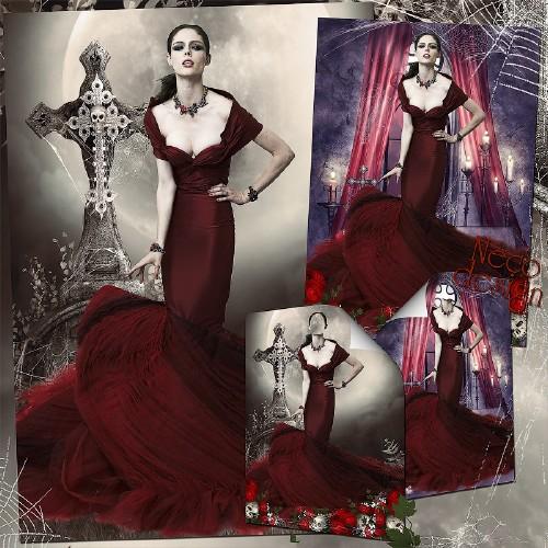 Готический женский шаблон - Королева вампиров