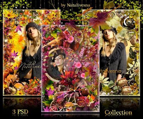 Коллекция Осенних рамочек для фото
