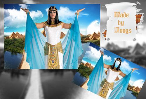 Фотошаблон женский - Я повелительница Египта
