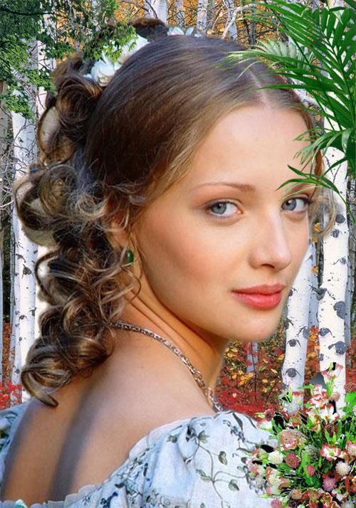 Женский шаблон для фотошопа - Краса России