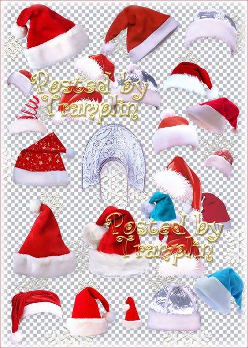 Клипарт – Новогодние шапки, кокошник