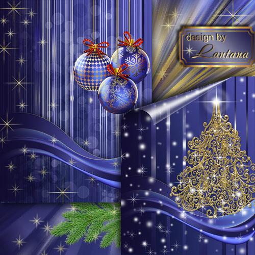 PSD исходники - Новогодняя история 1