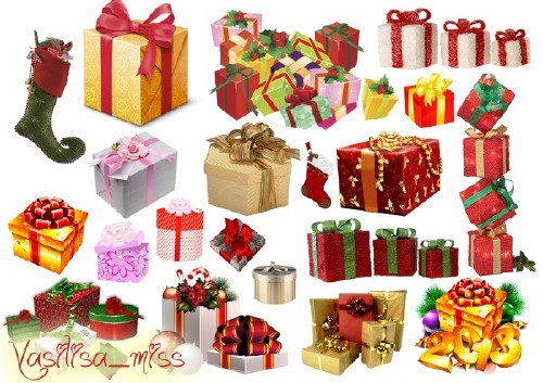 Клипарт новогодние подарки
