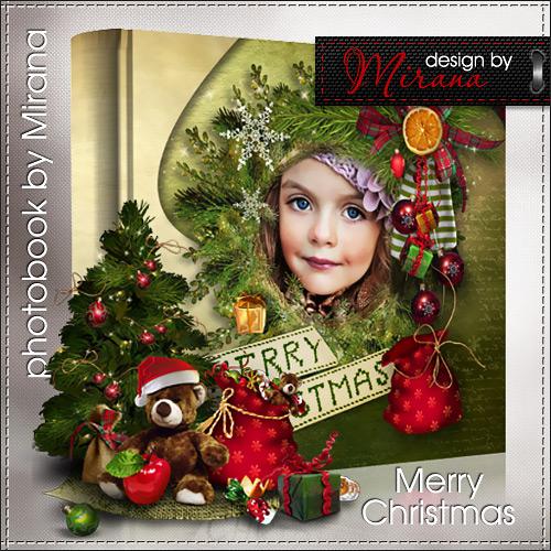 Шаблон зимней фотокниги - Merry Christmas