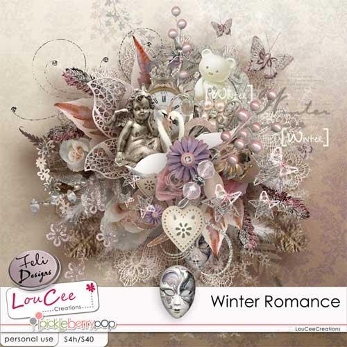 Романтический зимний скрап набор - Романтическая зима