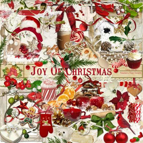 Симпатичный рождественнский скрап набор - Радость Рождества