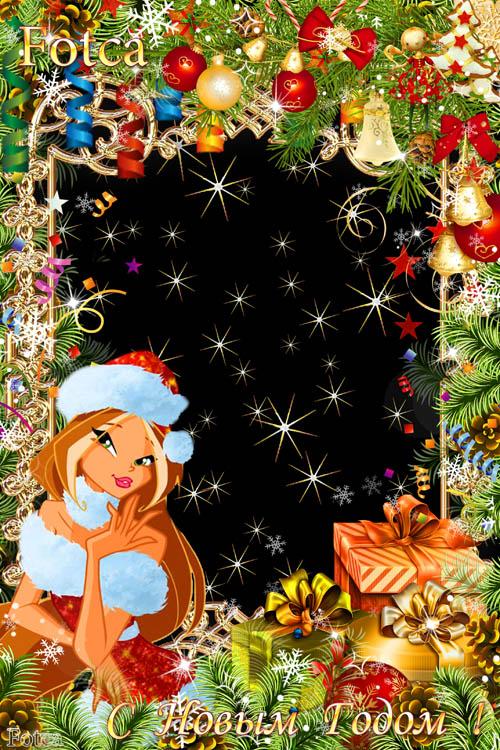 Детская новогодняя рамка  c феей Флорой