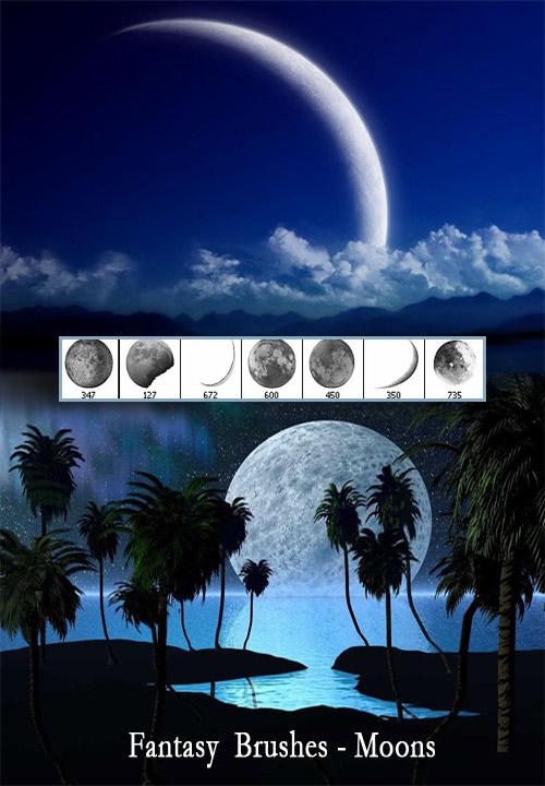 Кисти для Photoshop - Луна