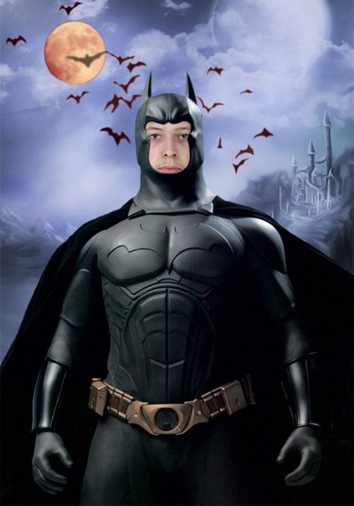 Мужской шаблон для фотошопа - Бетмен